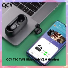 Mijia QCY T1C TWS Earphones Bluetooth V5.0 Headset 3D Stereo Sports Wireless Earbuds with Dual Microphone Charging Box