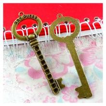 10Pcs 68.5*24MM Antique Bronze Plated Key Handmade Charms Pendant:DIY For Bracelet Necklace