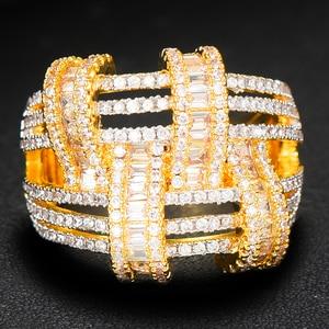 Image 4 - GODKI 2019 Trendy Cross Geometry Cubic Zirconia Stacks Rings for Women Finger Rings Beads Charm Ring Bohemian Beach Jewelry 2019