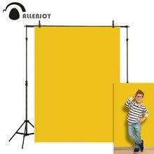 Allenjoy พื้นหลังสีเหลือง Felt เนื้อสีทึบผ้าภาพฉากหลัง photophone photozone การถ่ายภาพ