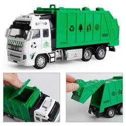 2021 1 шт. в комплекте, детское игрушечный автомобиль отступить сплава автомобиля металлический сплав модель инженерных мусора санитарии гру...