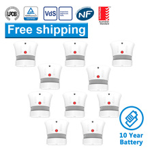 CPVan 10pcs/Lot fire protection Smoke Detector Fire Alarm Independent Home Security system CE EN14604 Listed 10 yr smoke alarm