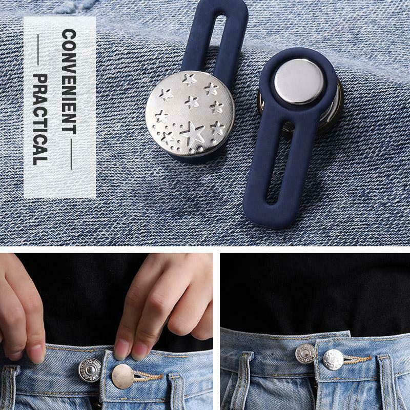 10 Pcs Jeans Retractable Button Buckle 2019 Portable Adjustable Detachable Extended Buckle For Women Men Jeans Casual Pants