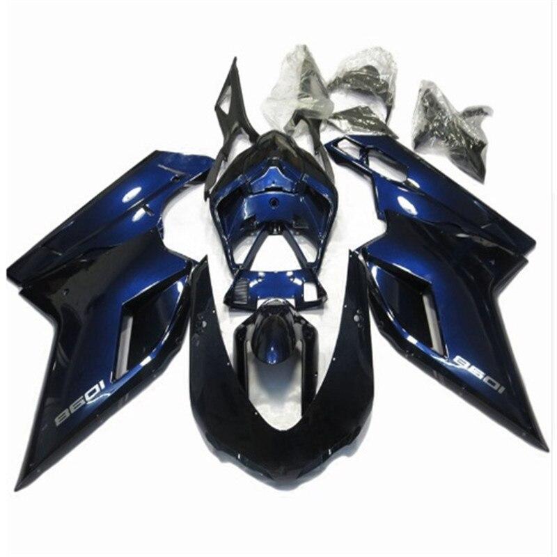 Offres spéciales, capot bleu pour Ducati 848 1098 07 08 09 10 11 année 1098S 1198 sportbike carénage plastique (moulage par Injection