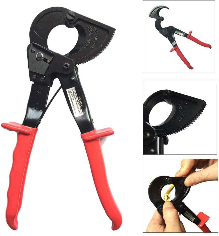 HS-325A 240mm2 Ratcheting Ratchet Cable Cutter Germany Design Wire Cutter Wire Cutter Necessary Household Practical Tool