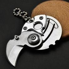 Coin knife key hanging folding  stainless steel portable folding multifunctional package letter opener portable folding knife