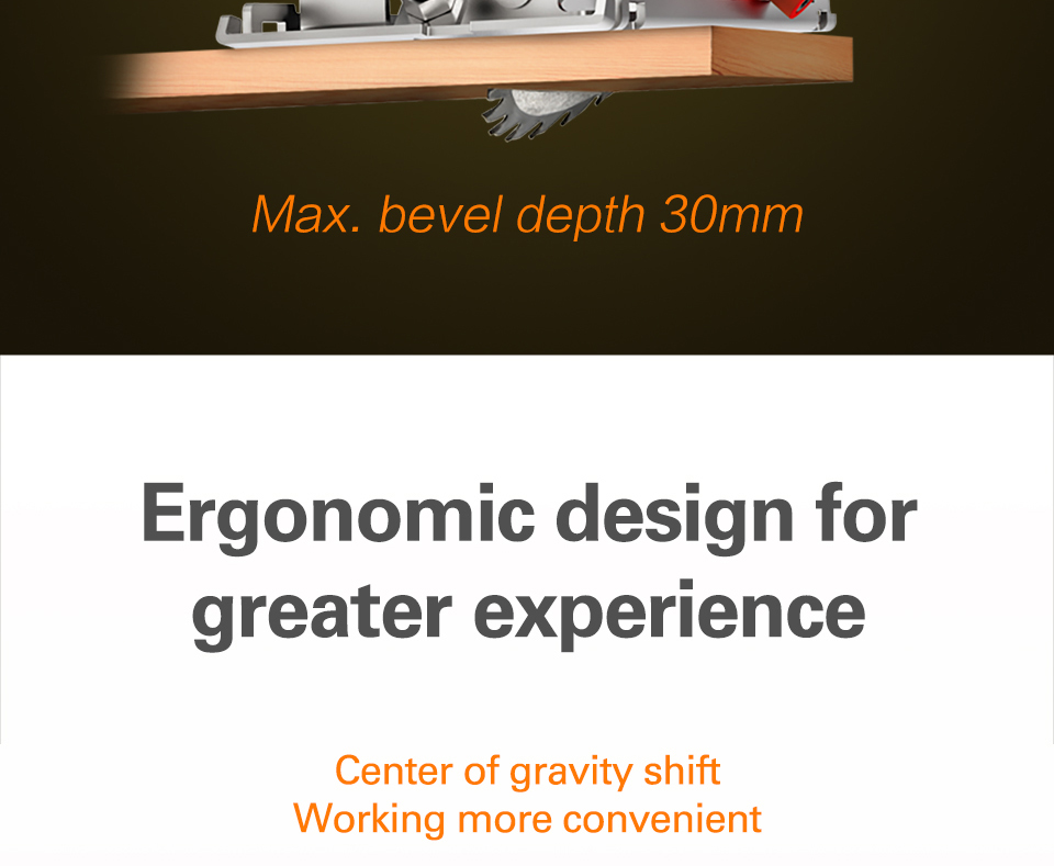WOEX SAW Ergonomic Design