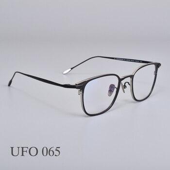 classic half glasses frames optical glasses frames for women men eyeglass eyewear frames unisex glasses frames Titanium metal men women Glasses Eyeglasses frames women men  UFO 065 Eyewear Frames For Reading Myopia Prescription lens