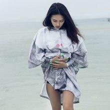 Nu june халат из микрофибры с принтом банное полотенце пляжное