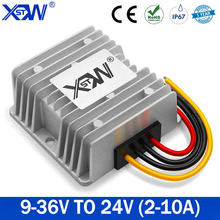 2020 Newest High Power Voltage Stabilizer 9-36V 12V 24V to 24V 2A 5A 8A 10A Automatic Buck Boost DC-DC Converter for Car CE