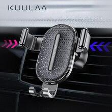 Soporte para teléfono de coche KUULAA soporte de gravedad soporte para móvil en soporte de soporte para teléfono de coche para iPhone Samsung Xiaomi