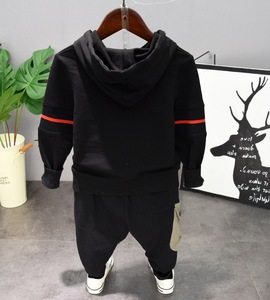 Image 5 - Kids Baby Boy Clothes Sets Casual Letter Printing Autumn Winter Outwear Sets Long Sleeves Tracksuit Top+Pant Outfits Hat Set