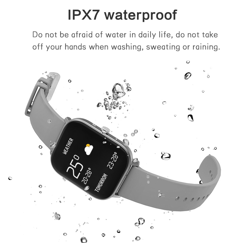 LYKRY P8 Smart Watch Full Screen Touch Heart Rate Blood Pressure Monitor Weather Forecast Waterproof Call Reminder OK COLMI P 8