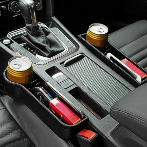 The New 1Pair Universal Auto Car Seat Crevice Plastic Storage Box Cup Phone Holder Organizer Reserved design Accessories(China)