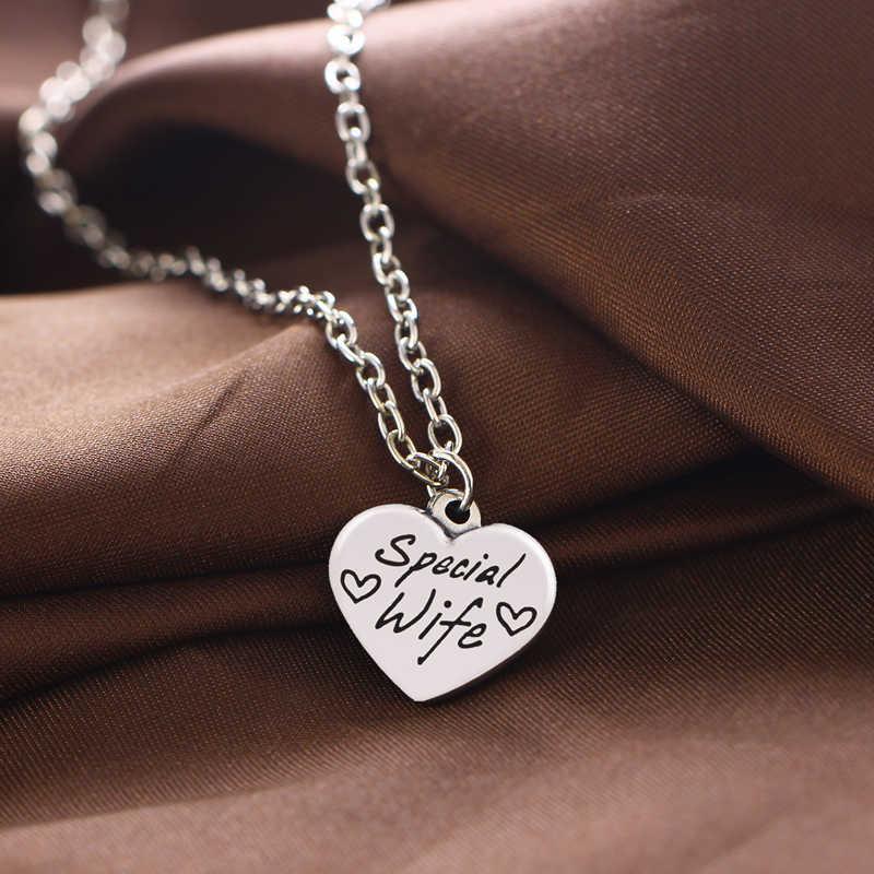 Miłość naszyjnik w kształcie serca siostra mama mama tata ciotka siostrzenica najlepsi przyjaciele dziewczyna urok wisiorek urodziny prezent miłość rodzina przyjaźń