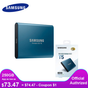 Image 1 - SAMSUNG External SSD T5 USB3.1 USB3.0 250GB 500GB 1TB Hard Drive External Solid State Drives HDD Desktop Laptop PC disco duro