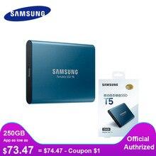 سامسونج الخارجية SSD T5 USB3.1 USB3.0 250GB 500GB 1 تيرا بايت القرص الصلب الخارجية الحالة الصلبة محركات الأقراص HDD سطح المكتب كمبيوتر محمول ديسكو دورو