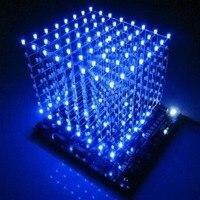 Aletler'ten Frekans Ölçerler'de Stokta var! 3D8 hafif küp (parçalar) PCB kartı + 60 s2 + 573 + 2803/CUBE8 8x8x8 3D LED + bilgi ve kaynağı (3D8S) 3d led küp mavi