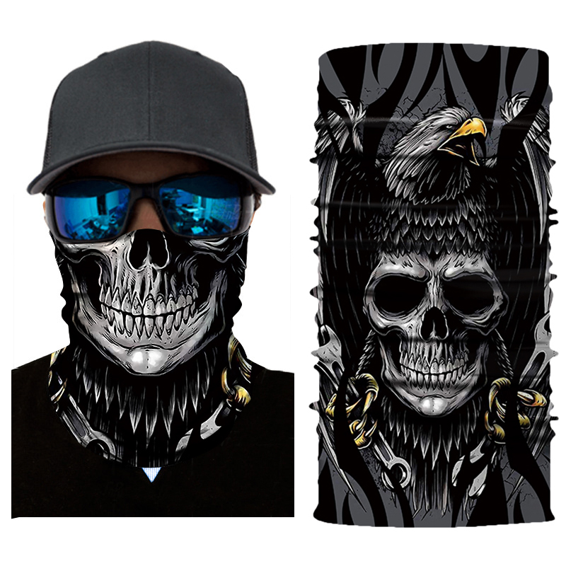 New Motorcycle Face Mask Biker Balaclava Scary Masque Face Shield Unisex Mask Skull Mascarilla Mascara Moto Riding Bandanas