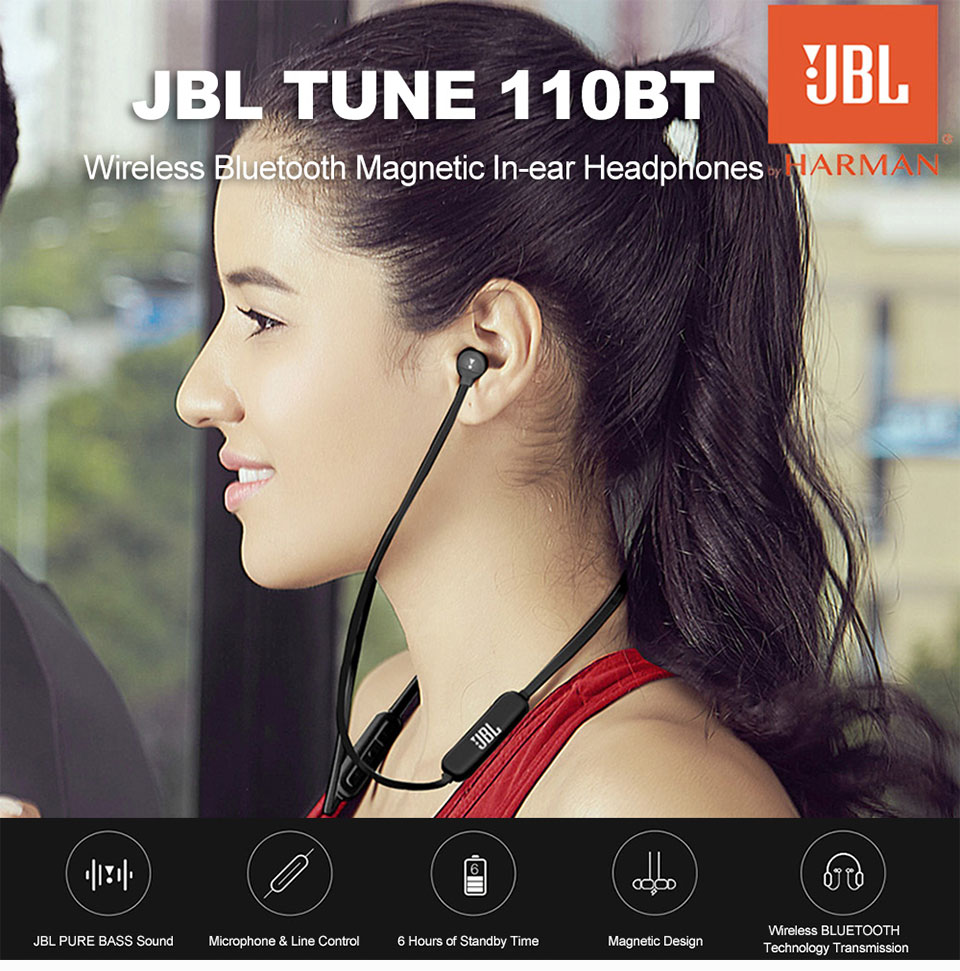 Jbl T110bt Wireless Bluetooth Earphone Sports Running Bass Sound Magnetic Headset 3 Button Remote With Mic For Smartphone Music Aliexpress