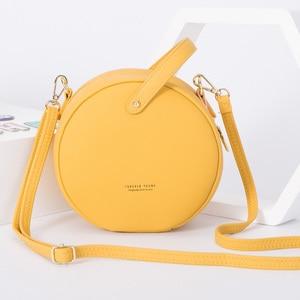 Image 5 - HOT Circular Design Fashion Women Shoulder Bag Leather Womens Crossbody Messenger Bags Ladies Purse Female Round Bolsa Handbag