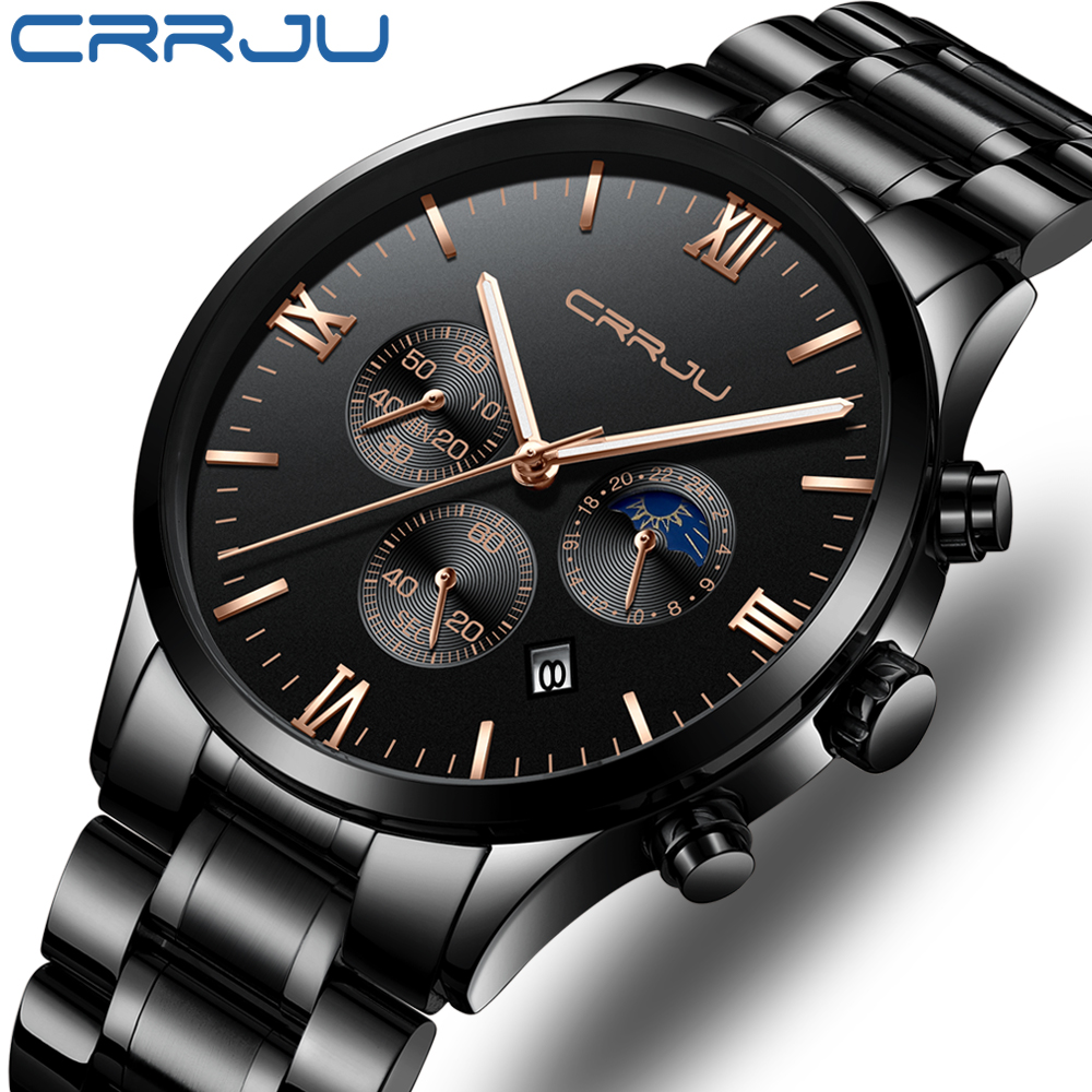 Watch Men Top Brand Luxury Fashion Mens Watches Stainless Steel Chronograph Quartz Watch Sport Male Clock Relogio Masculino