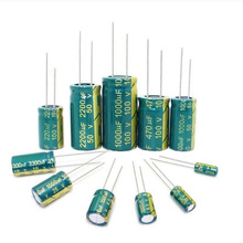 Frecuencia baja de alta frecuencia, 6,3 V, 10V, 16V, 25V, 35V, 50V, 400V, 450V, 22UF, 47UF, 100UF, 220UF, 330UF, 470UF, 680UF