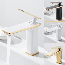 Brass Black Gold Basin Faucet Bathroom Sink Faucets Hot Cold Water Mixer Crane Deck Mounted Single Handle Hole Bath Kitchen Tap