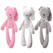 Kids Soft Stuffed Cute Long-Legged Bunny Dolls Baby Sleeping Soothing Cartoon Rabbit Plush Toy for Children Birthday Gifts