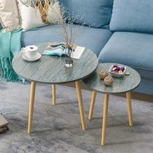 Скандинавский журнальный столик для гостиной, современный минималистичный чайный столик из твердой древесины, ножной чайный столик, многофункциональный стол для еды