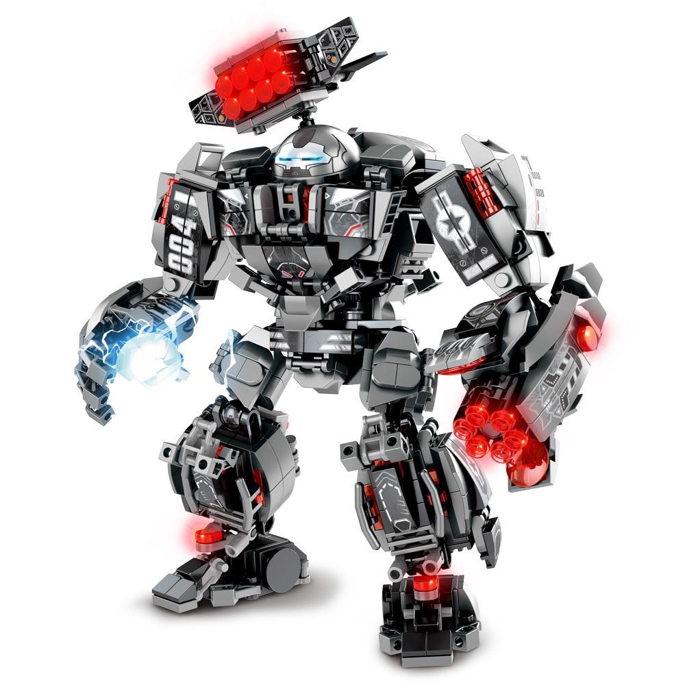 Marvel Iron man Hulk war machine building blocks super heroes avengers Infinity War kids toys gifts
