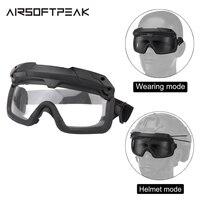 Tactical Airsoft gogle wojskowe okulary Paintball strzelanie do kasku okulary ochrona oczu polowanie wspinaczka narciarstwo armia cs w Okulary turystyczne od Sport i rozrywka na