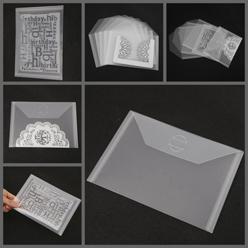 10-piece Set Transparent Portable Storage Bag Used To Store Metal Cutting Dies Clear Silicone Stamp Bump Template New Card Cover