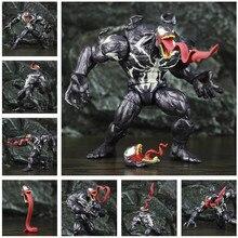 """Venom 8 """"figurine 20cm incroyable araignée méchant KOs ML légendes BAF longue langue tête SP homme jouets poupée modèle Edward Brock"""