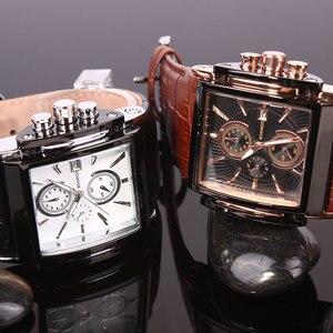 Image 5 - BOAMIGO גברים קוורץ שעונים חיוג גדול אופנה מזדמן ספורט שעונים רוז זהב תת חוגות שעון חום עור זכר יד שעונים