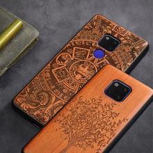 Capa de telefone para huawei mate 20 x mate 30 pro, capa de telefone original boogic wood tpu para huawei mate 20 lite acessórios do telefone mate 10 pro