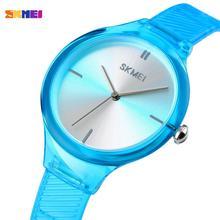 SKMEI zegarki damskie luksusowa tarcza marki prosty kwarcowy zegarek na rękę moda kobieta dziewczyna zegar Relogio Feminino zegarki damskie