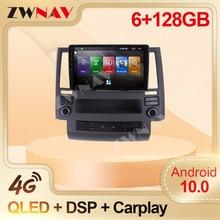 DSP Carplay 6 + 128GB Android coche reproductor de DVD Multimedia para Infiniti Fx35 GPS Navi Audio de coche Radio Multimedia estéreo unidad de cabeza