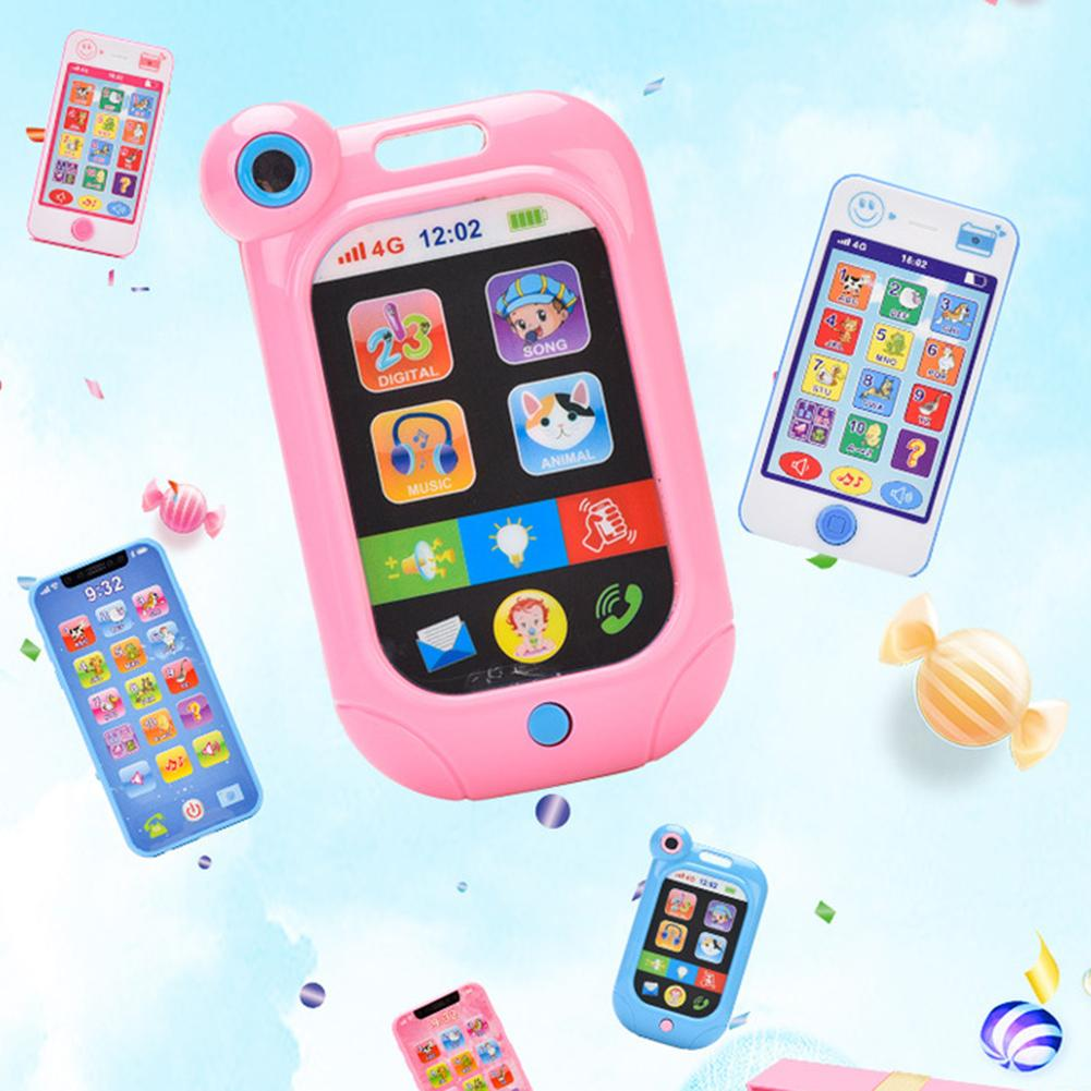 Children Cellphone Mobile Phone Touch Screen Music Light Education Kids Toy English Learning Mobile Phone Toy Chrismtas Gifts Ne
