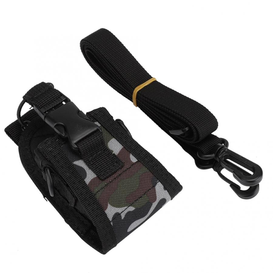 Portable Walkie Talkie  Universal Walkie Talkie Waist Bag Two Way Radio Protective Case With Strap Fit For Kenwood