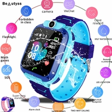 Beautyss Waterproof Kids Smart Watch SOS Antil-lost Children Baby 2G SIM Card Clock Call Location Smartwatch PK Q50 Q90 Q528 gm11 gps smart baby watch children kids sim camera sos call tracker anti lost monitor alarm clock smartwatch pk q528 y21 q50 q90