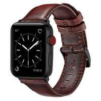 Czerwony brązowa prawdziwa skóra pasek na pasek do apple watch 42 mm 44 mm Viotoo moda męska pasek zegarka pasek do zegarka iwatch pasek do zegarka