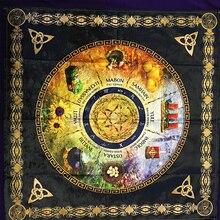 นุ่มพิธีโหราศาสตร์ผ้าปูโต๊ะแท่นบูชา wicca TAROT ตารางผ้า Divination Sabbats กระดานการ์ดเกมอุปกรณ์เสริม
