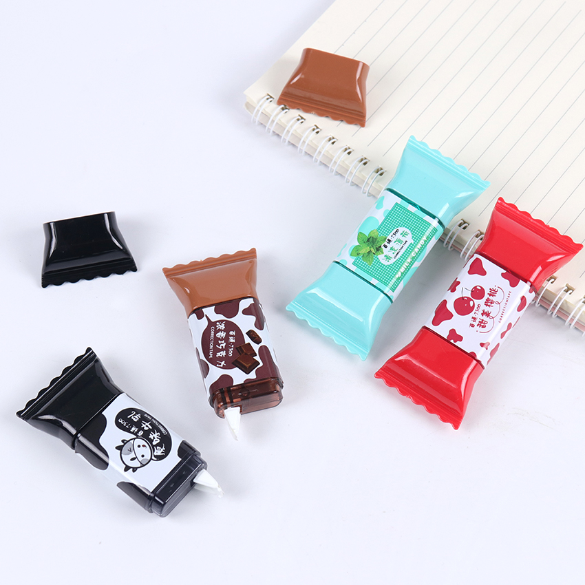 1PC Cute Candy Correction Tape 3.5m Kawaii Corrector Stationery School Office Student Supplies