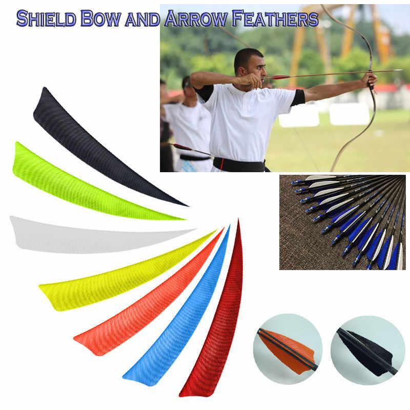 30pcs 2/'/' Rubber Vanes Arrow Archery Feather Fletching Shield DIY Bow Shooting