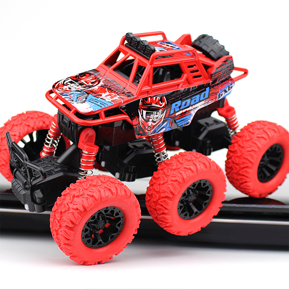 <font><b>Model</b></font> Toddler Anti Shock Inertia Gift Toys Alloy 6 <font><b>Wheel</b></font> Drive Outdoor Crawler Off Road Vehicle Monster Truck Friction Powered image