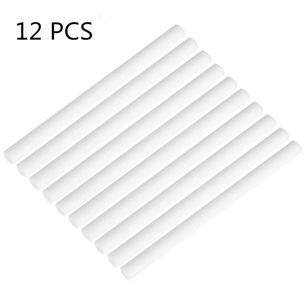 12 Pcs Humidifiers Cotton Stick Swab Scent For Car Air Vent Freshener Auto Aroma Oil Diffuser Sponges Refill Stick