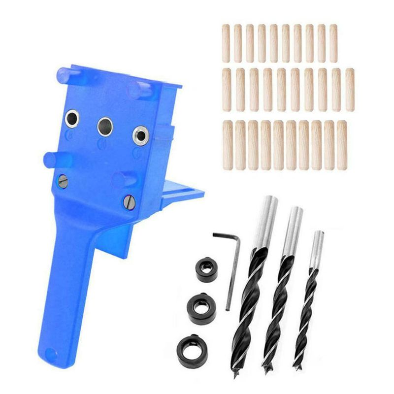 41pcs/set Handheld Woodworking Dowel Jig Guide For 6 8 10mm Drill Bits