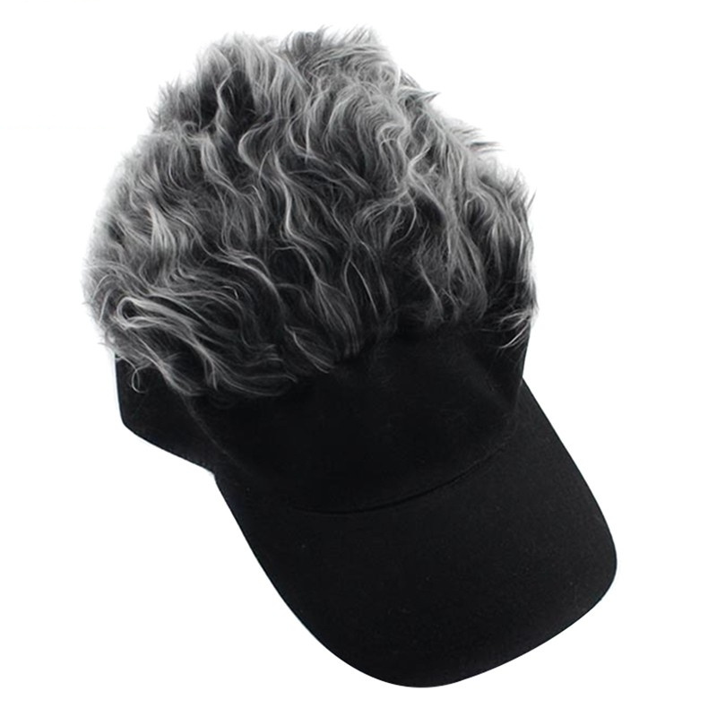 Gorras clásicas con letras de Peluca de pelo falso Unisex, sombrero de béisbol, gorra de Golf deportiva, gorra con visera