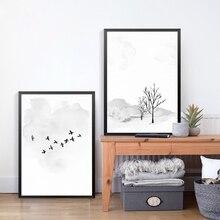 Настенная Картина на холсте минималистичные художественные принты